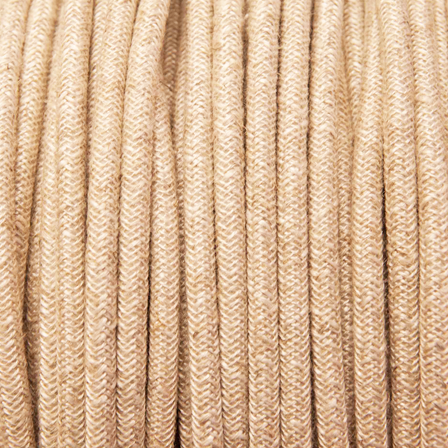 CANVAS LINEN STYLE ROUND FABRIC CABLE - FABRIC CABLE - DYKE & DEAN  - Homewares | Lighting | Modern Home Furnishings