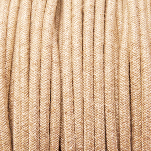 CANVAS LINEN STYLE ROUND FABRIC CABLE