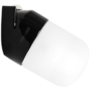 BLACK CERAMIC ANGLE WALL LIGHT FROSTED E27