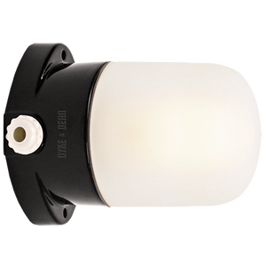 BLACK CERAMIC MOUNTED WALL LIGHT FROSTED E27 - BATHROOM / OUTDOOR LIGHTS - DYKE & DEAN  - Homewares | Lighting | Modern Home Furnishings