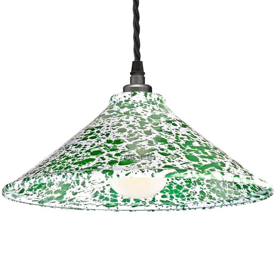 DYKE & DEAN SPLATTERWARE SHADE GREEN
