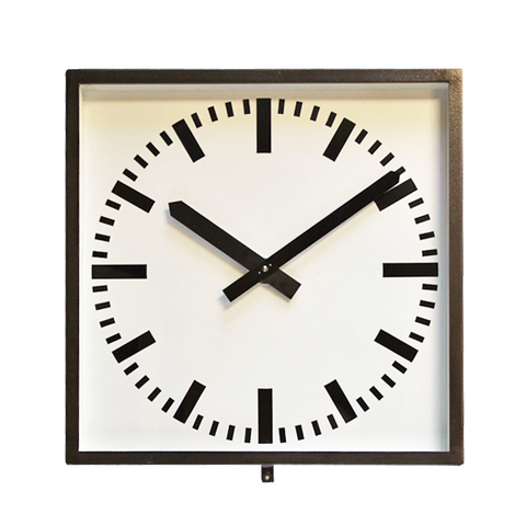 ORIGINAL SQUARE BLACK WEST GERMAN CLOCK