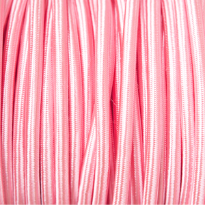 BRIGHT PINK ROUND FABRIC CABLE