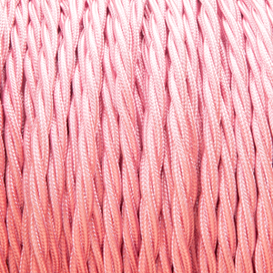BRIGHT PINK TWISTED FABRIC CABLE