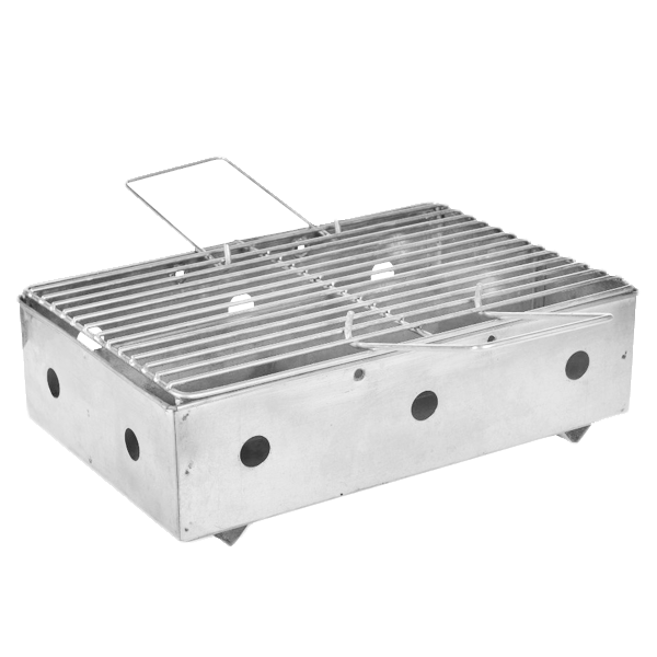 RECTANGULAR GALVANIZED BBQ
