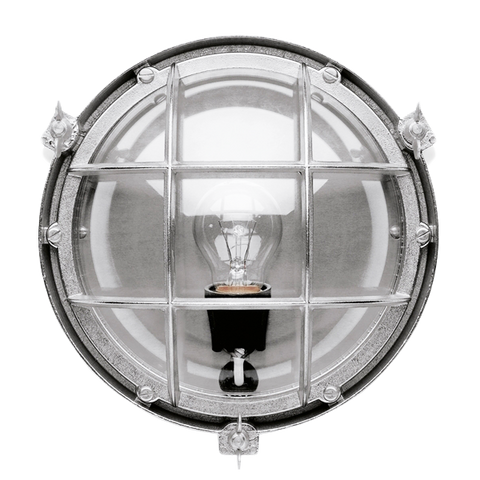 ROUND CHROME BULKHEAD LAMP