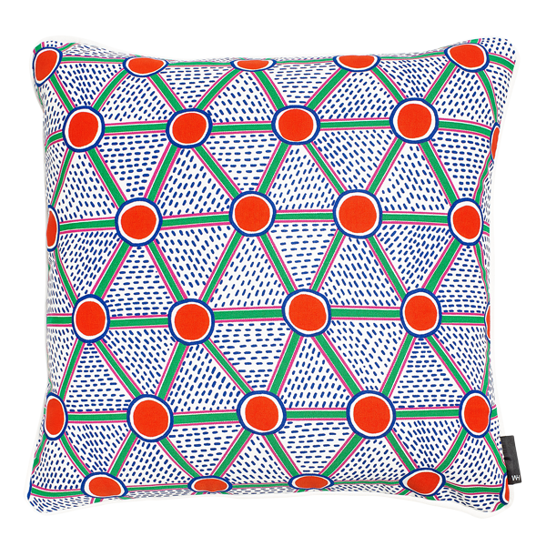 WH CUSHION CELLS SQUARE PRINT