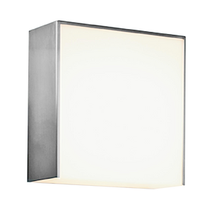 BRUSHED STEEL BOX DOWNLIGHT IP44 - BATHROOM / OUTDOOR LIGHTS - DYKE & DEAN  - Homewares | Lighting | Modern Home Furnishings