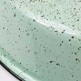 FLAT MINT GREEN SPECKLED ENAMEL SHADE