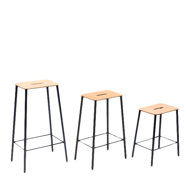 FRAMA ADAM STOOLS LEATHER TOP