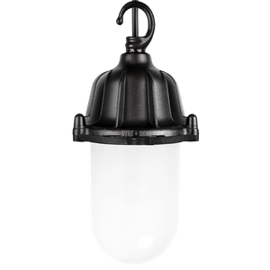CAST LANTERN FROSTED PENDANT BLACK