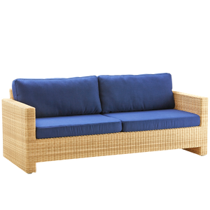 SIXTY LOUNGE CHAIR 3 SEATER RATTAN - LOUNGE CHAIRS - DYKE & DEAN  - Homewares | Lighting | Modern Home Furnishings