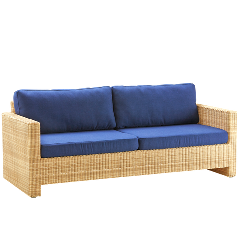 SIXTY LOUNGE CHAIR 3 SEATER RATTAN