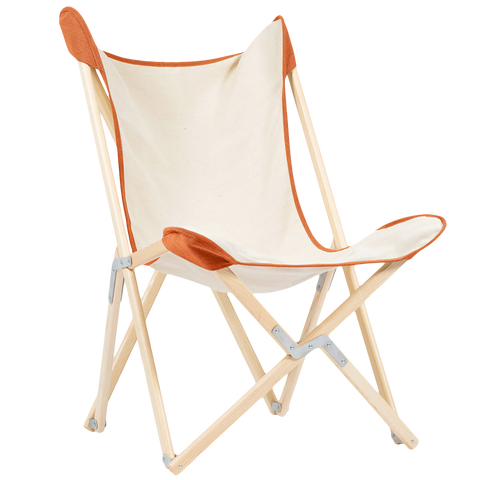 TELAMI TRIPOLINA HEMMED CHAIR NATURAL WOOD