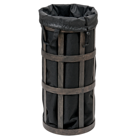 LAUNDRY BASKET DARK OAK