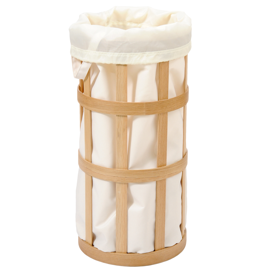 LAUNDRY BASKET NATURAL OAK