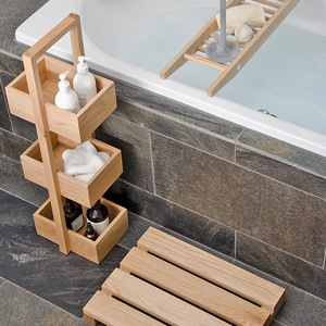 MEZZA BATHROOM CADDY IN NATURAL OAK