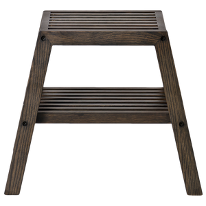 SLATTED BATH STOOL DARK OAK