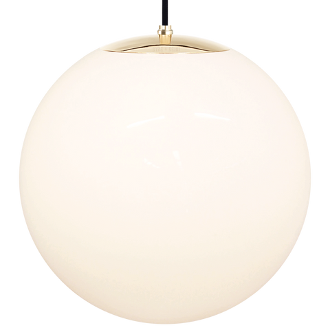 OPAL GLOBE PENDANT BRASS 500mm - GLASS PENDANTS - DYKE & DEAN  - Homewares | Lighting | Modern Home Furnishings