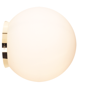 SPHERE LAMP BRASS BASE 300mm - BATHROOM / OUTDOOR LIGHTS - DYKE & DEAN  - Homewares | Lighting | Modern Home Furnishings
