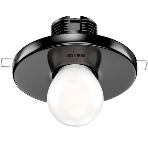 BLACK CERAMIC CEILING E27 RECESSED LIGHT