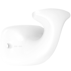 WHITE PORCELAIN ROBE HOOK - BATHROOM - DYKE & DEAN  - Homewares | Lighting | Modern Home Furnishings