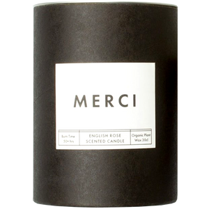MERCI ENGLISH ROSE SCENTED CANDLE