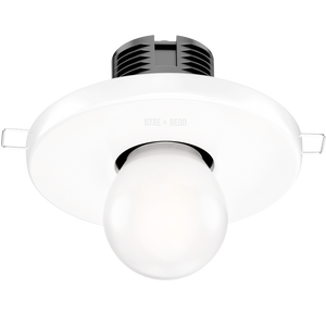 WHITE CERAMIC WALL & CEILING E27 RECESSED LIGHT