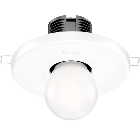 WHITE CERAMIC CEILING E27 RECESSED LIGHT