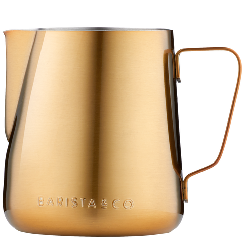 GOLD COFFEE MILK FROTHING JUG & PITCHER 420ML