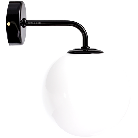 BLACK SMALL WALL ARM GLOBE LAMP