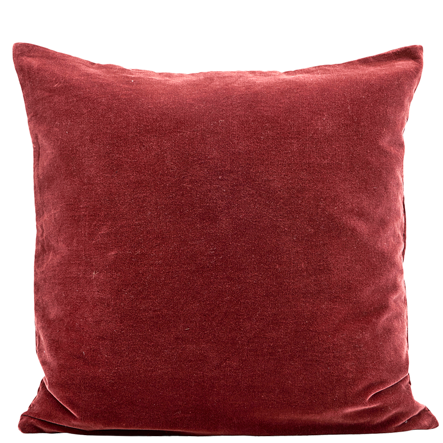 BURGUNDY VELOUR CUSHION