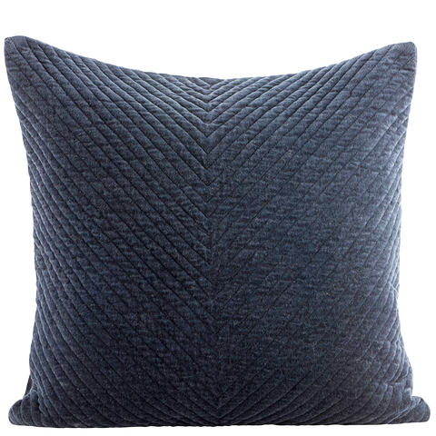 NAVY VELOUR CUSHION