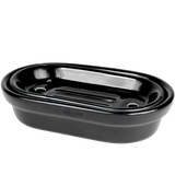 BLACK PORCELAIN SOAP DISH