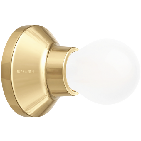 GOLD CERAMIC WALL & CEILING LAMP
