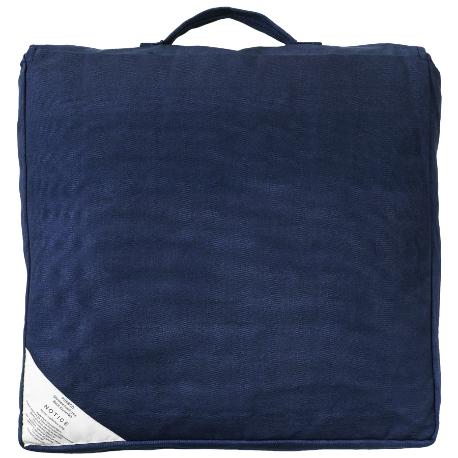 BLOCK SEAT CUSHION NAVY