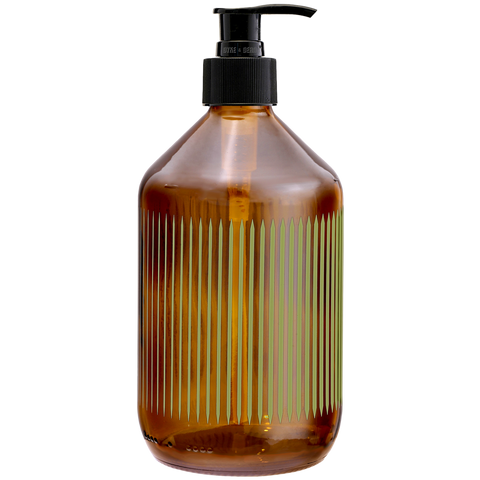 REFILL GLASS SOAP PUMP MOSS STRIPE - BATHROOM - DYKE & DEAN  - Homewares | Lighting | Modern Home Furnishings