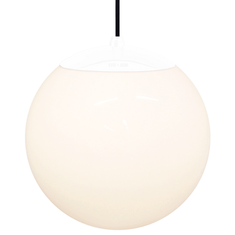 OPAL GLOBE PENDANT WHITE 300mm - GLASS PENDANTS - DYKE & DEAN  - Homewares | Lighting | Modern Home Furnishings