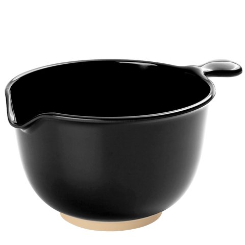 LARGE BLACK MELAMINE MIXING BOWL