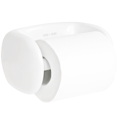 WHITE PORCELAIN TOILET PAPER HOLDER