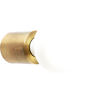 BRUSHED BRASS CYLINDER LAMP
