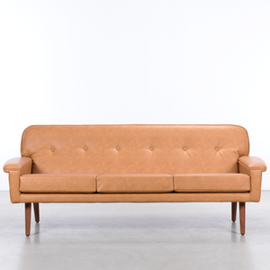 DANISH 3 & 5 SEATER SOFAS LEATHER