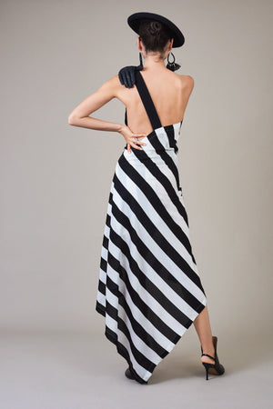Open Back Dress with Sash
