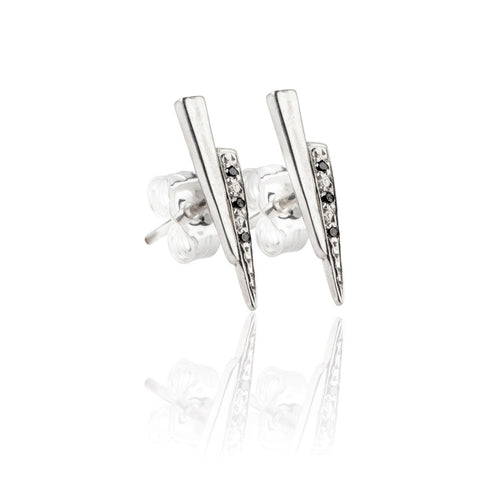 Razor studs with black diamonds