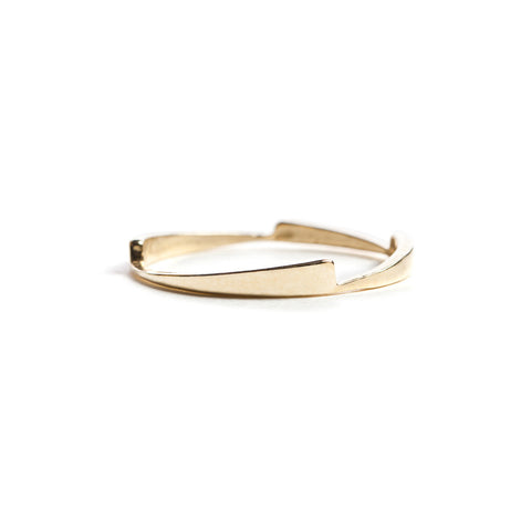 Gold razor stack ring