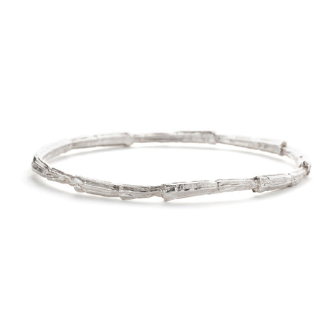 Ridge bangle sterling silver