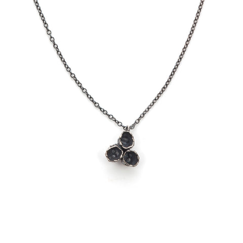 Oxidized barnacle cluster necklace