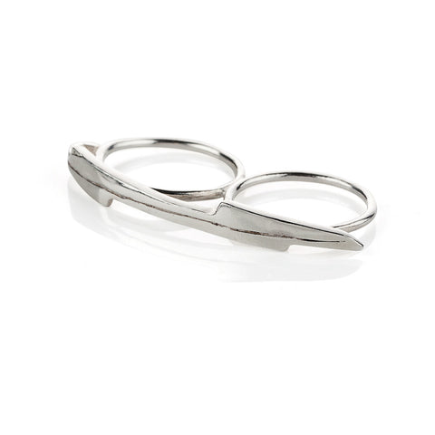 Double finger razor ring