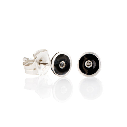 Black diamond droplet studs