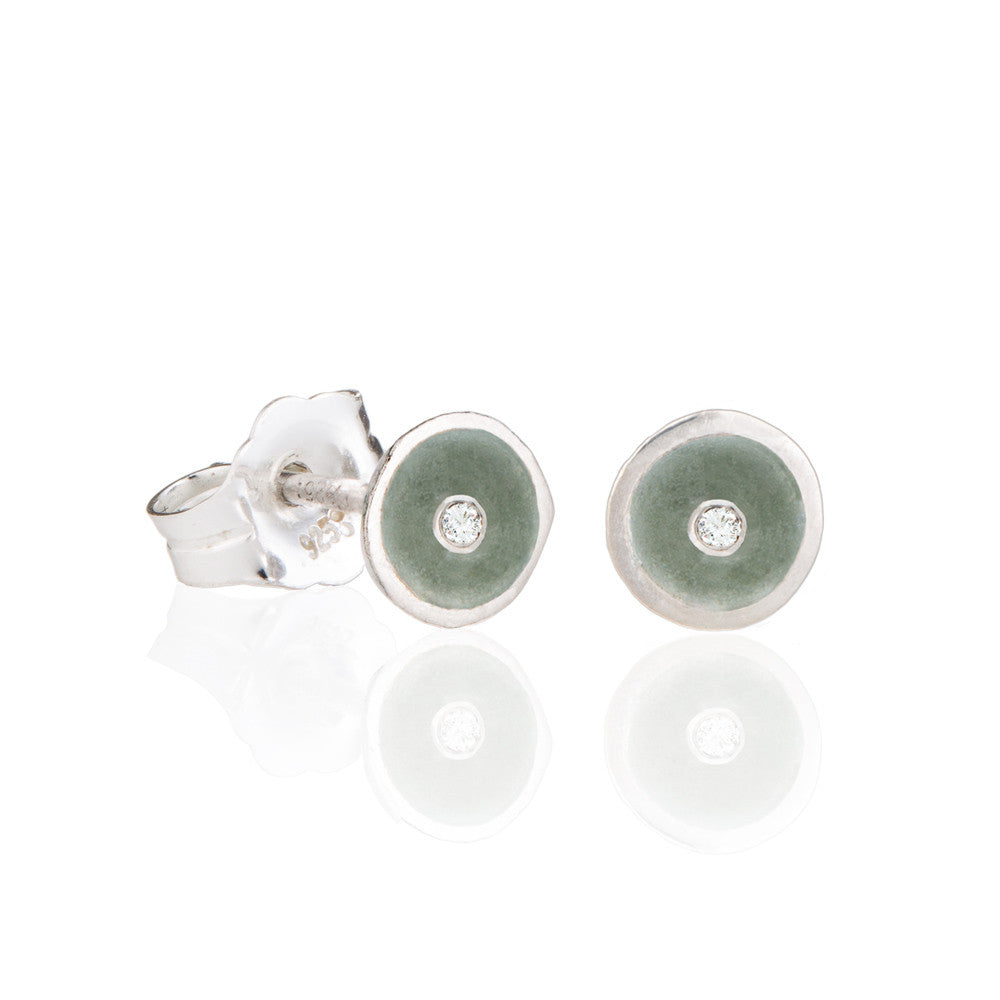 Diamond champagne droplet studs